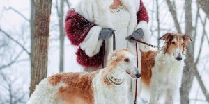 Образ невесты на свадьбе в русском стиле Зимняя охота