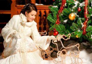 Образ невесты на свадьбе в стиле Рождество
