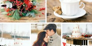 Свадьба в стиле Рождество