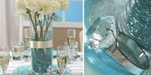 Декор зимней свадьбы в светло-голубом цвете