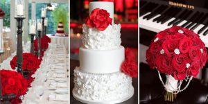 Декор свадьбы в красном цвете