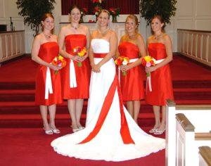 Образ невесты в красном цвете