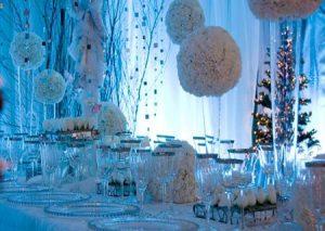 Организация свадьбы в стиле Снежная королева