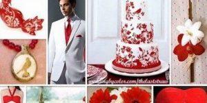 Свадьба в красном цвете