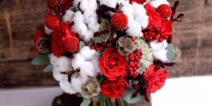 """Букет невесты на свадьбе в русском стиле """"Зимняя охота"""""""