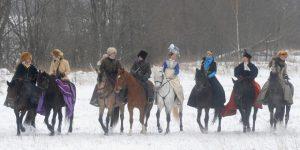 Свадьба в русском стиле Зимняя охота