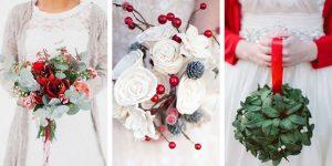 Рождественский букет невесты