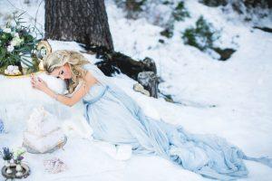 Образ невесты в светло-голубом цвете