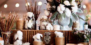 Стильный зимний декор свадьбы