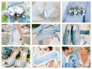 Свадьба в светло-голубом цвете